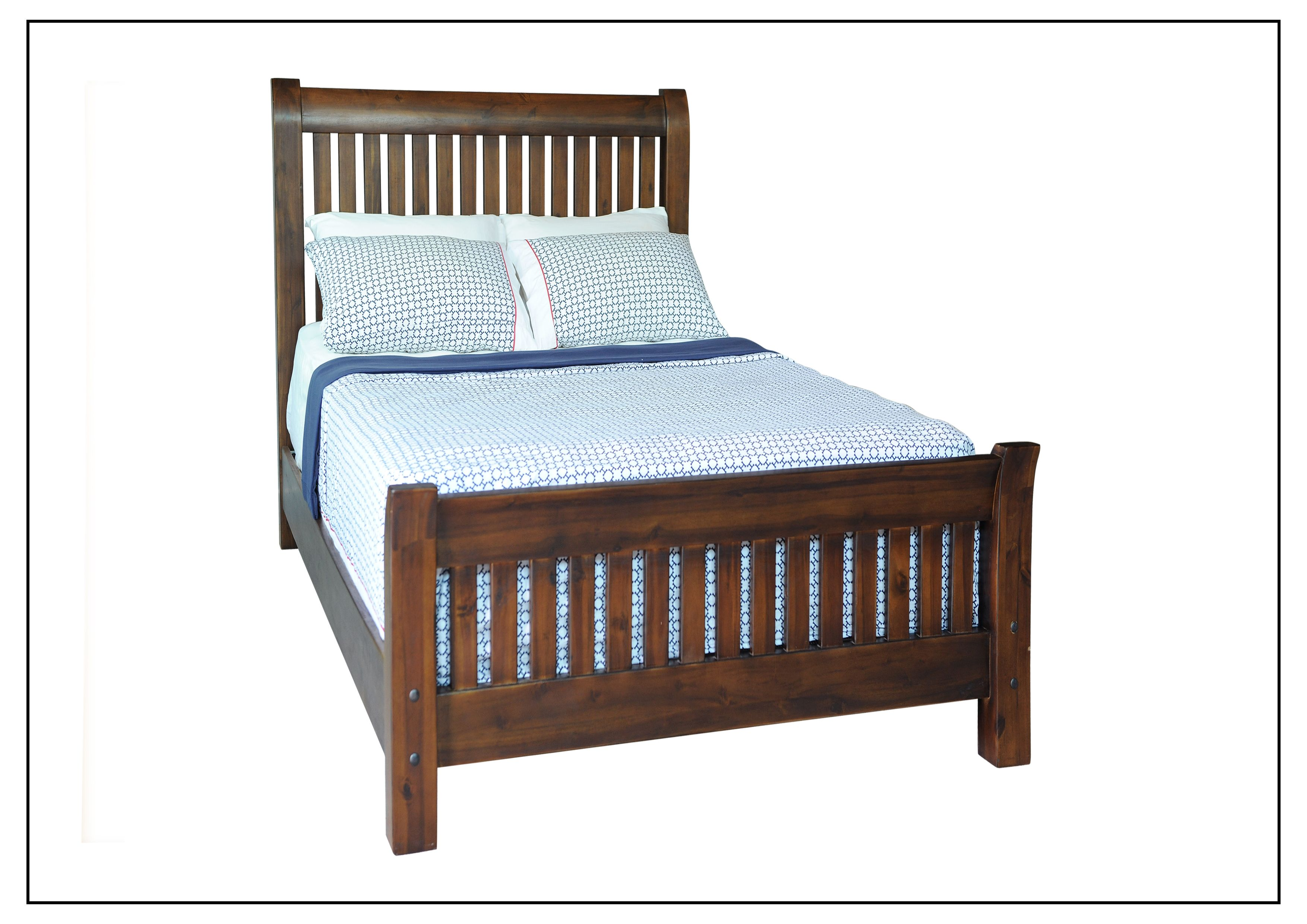 TIBSSKSB007 Sleigh Slat King Single Bed Head Height