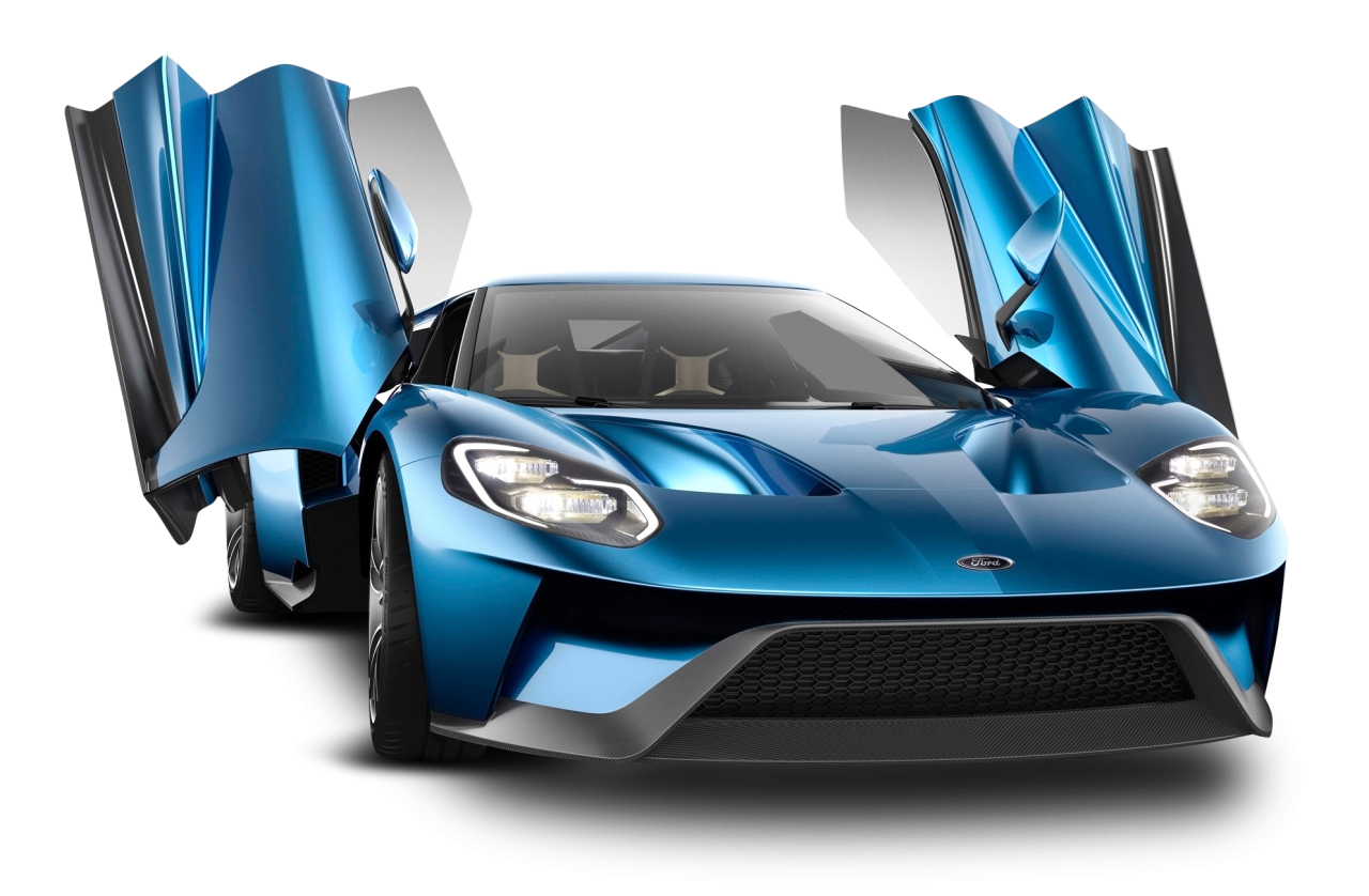Ford Gt Blue Car PNG Image in 2020 Super cars, Ford gt