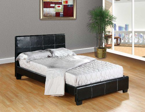 Best Home Life Leather Platform Bed With Slats Full Complete 400 x 300