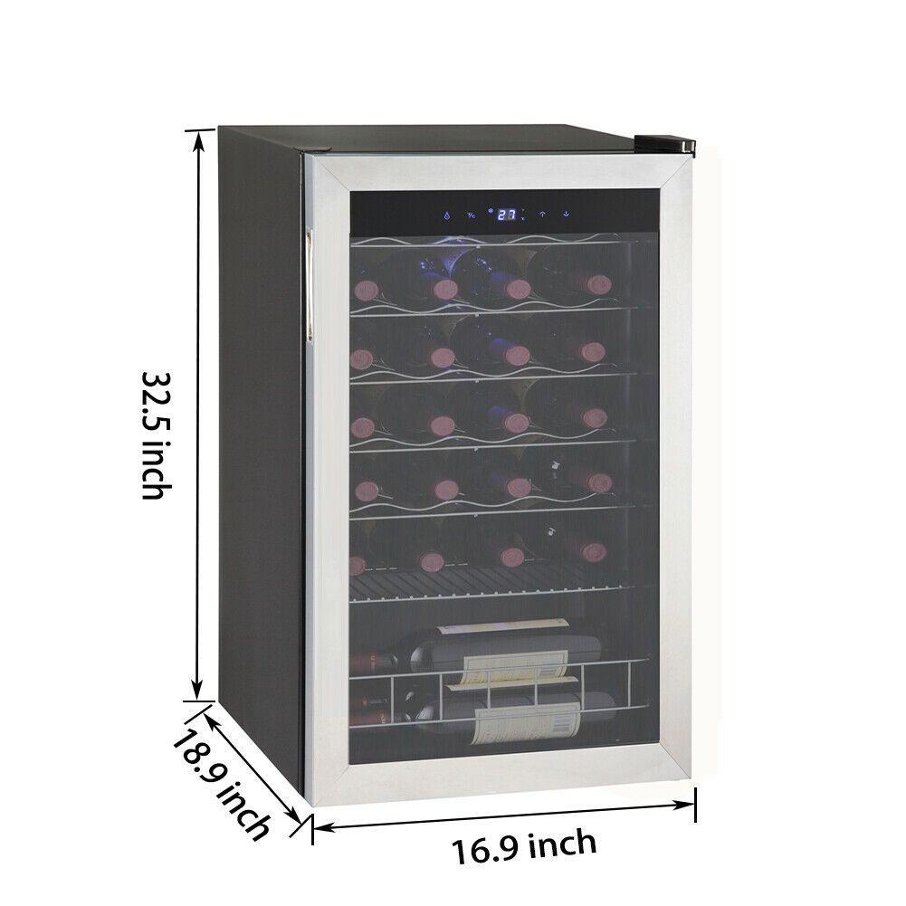 Smad 28 Bottle Wine Fridge Compressor Cooler Stainless Steel Freestanding Cellar 283 00 Wine Cooler Ideas In 2020 Stainless Steel Fridge Wine Fridge Wine Cooler