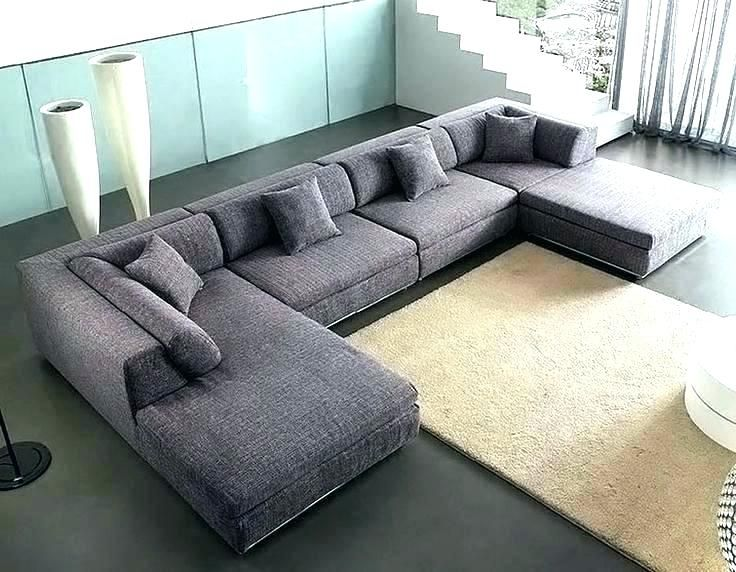 outstanding u shaped leather sectional