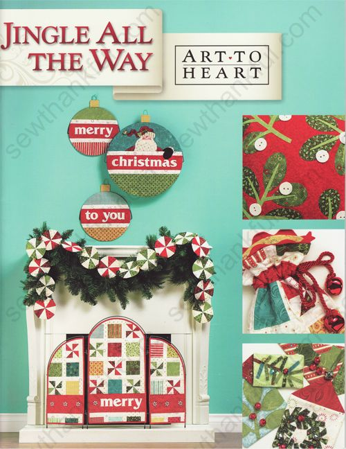 Holiday Hearth Merry Screen project in Art to Heart's latest pattern book, Jingle All the Way