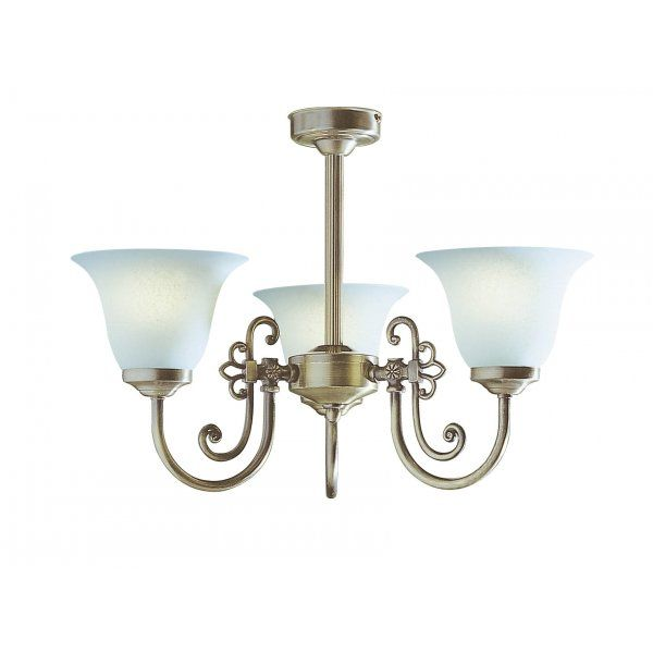 Woodstock Traditional Antique Brass Light for Low Ceilings