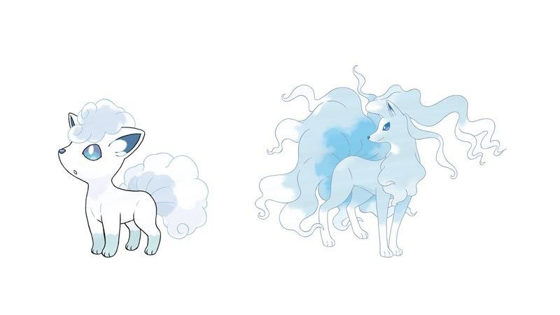 Vulpix Evolves Into Alolan Ninetails When Leveled Up Around The Ice Stone