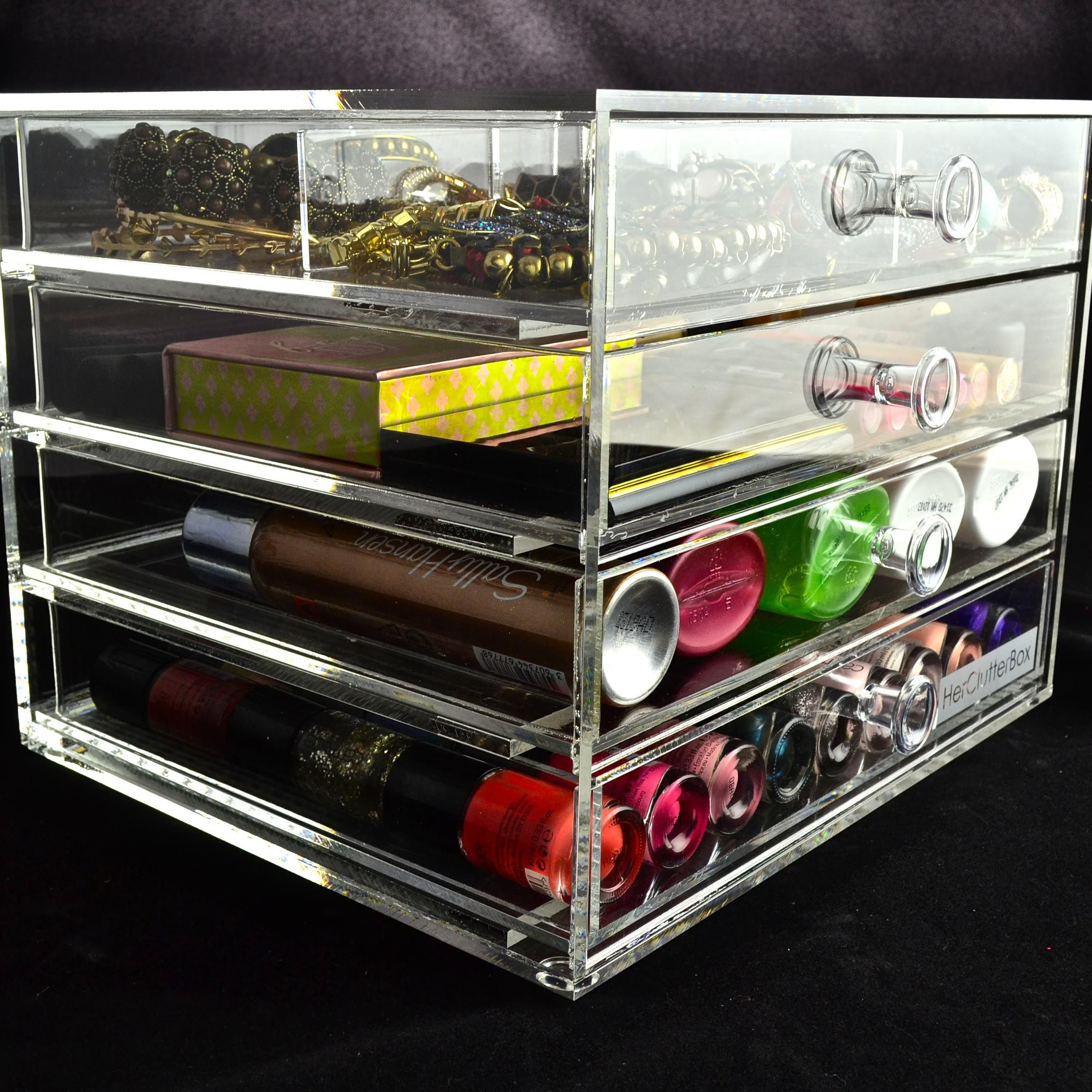4 Drawer Crystal Clear Collection Order at http//www