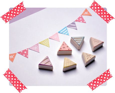 carve your own washi tape style stamp!