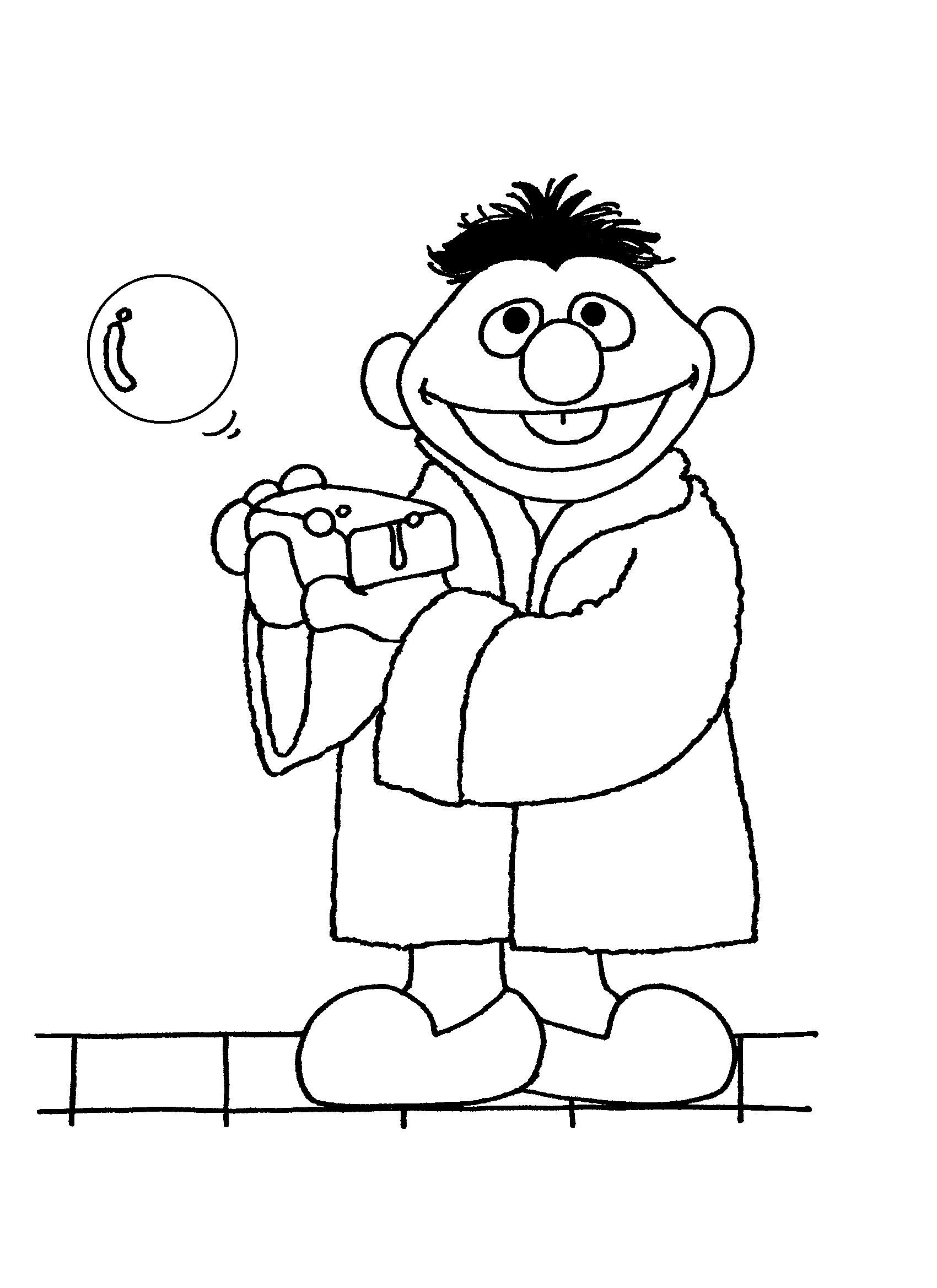 Uncategorized Ernie Coloring Pages bath time ernie coloring pages sesame street pages