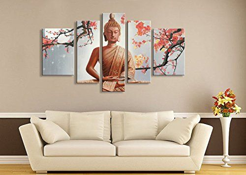 Winpeak Pure Hand Painted Framed Canvas Art Buddha Paintings on ...