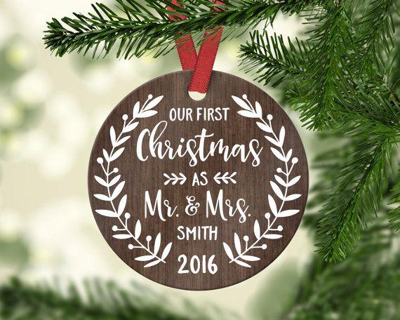 Newlywed Newly Engaged Christmas Ornaments