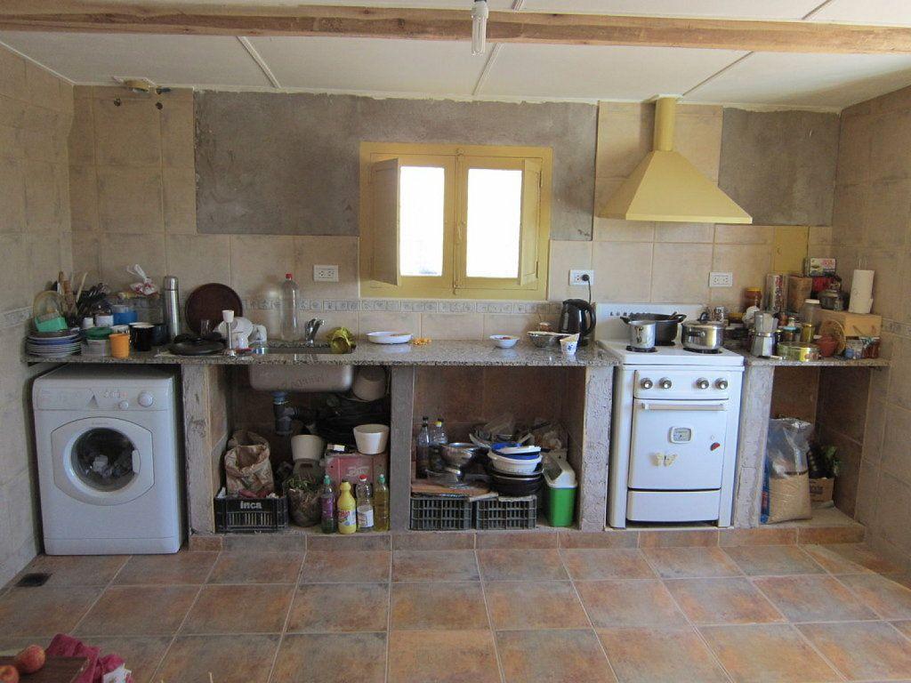 Cocinas con bajo mesada de obra en microcemento buscar for Mesadas de cocina pequenas
