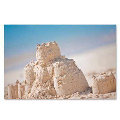 """Trademark Art 'Sand Castle 1' by Yale Gurney Photographic Print on Wrapped Canvas Size: 30"""" H x 47"""" W x 2"""" D"""