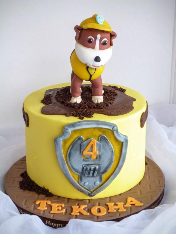rubble paw patrol  paw patrol cake paw patrol birthday