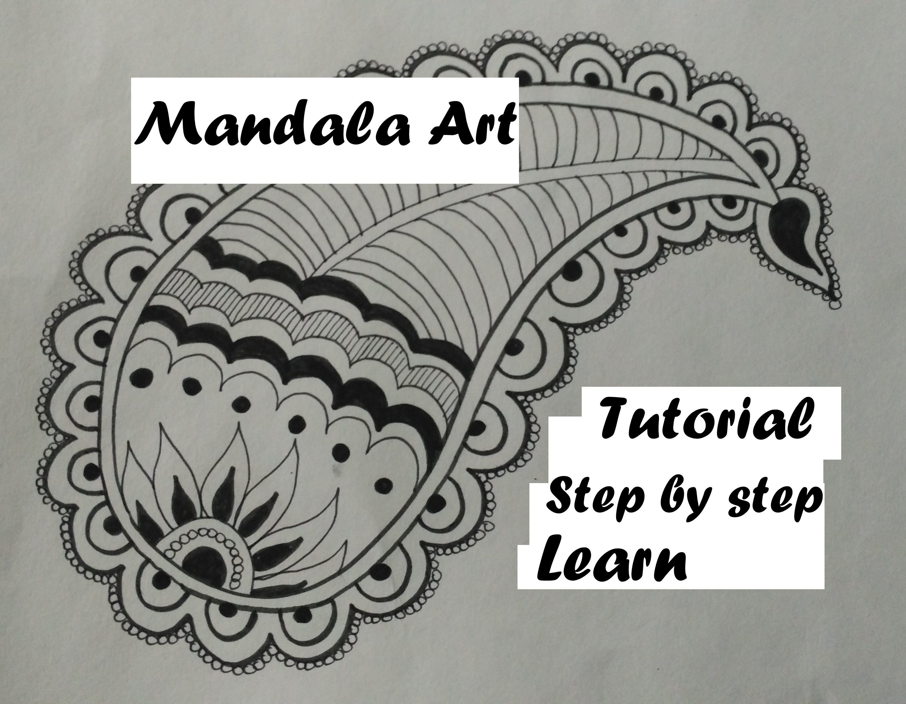 Draw Easy Mandala Leaf Art Design For Beginners Tutorial Doodle
