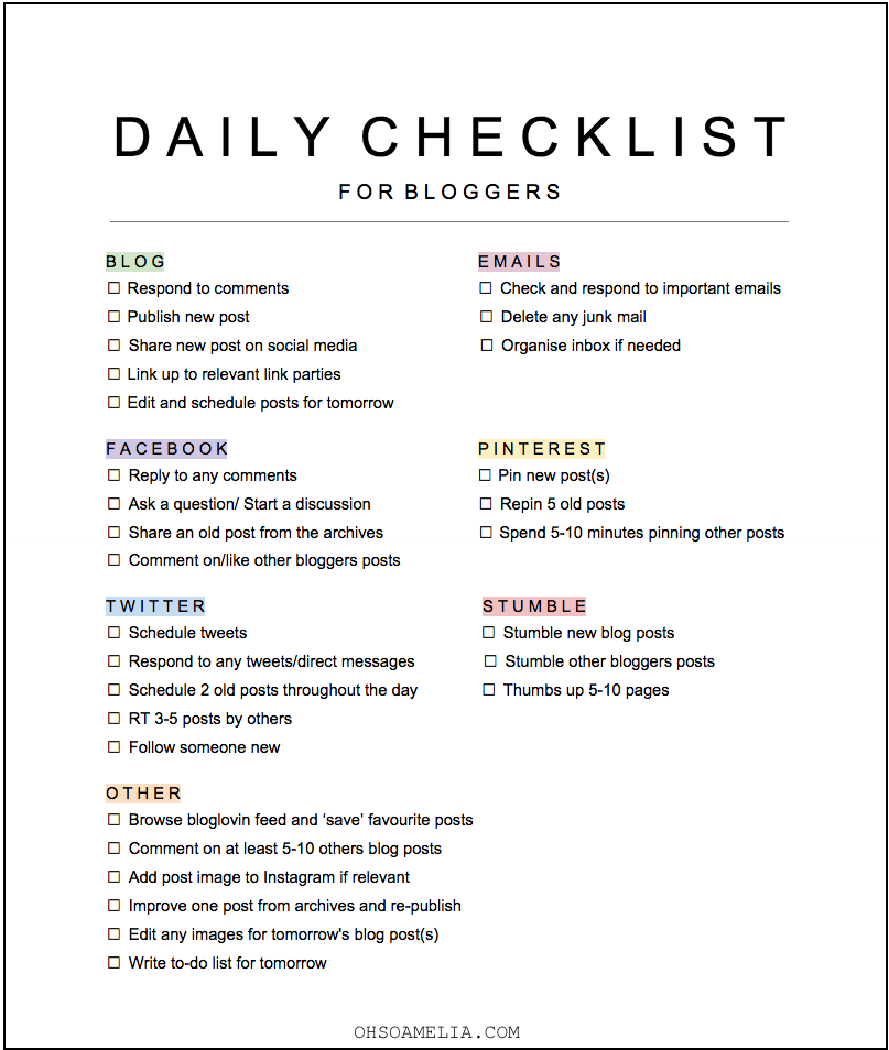 My daily blogging tasks free checklist blogging check and free - Reasons always schedule regular home inspection ...