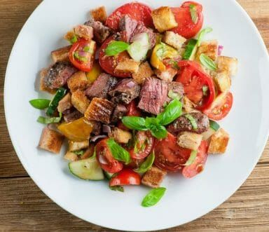 Steak Panzanella Salad | Recipe | Food recipes, Salad ...