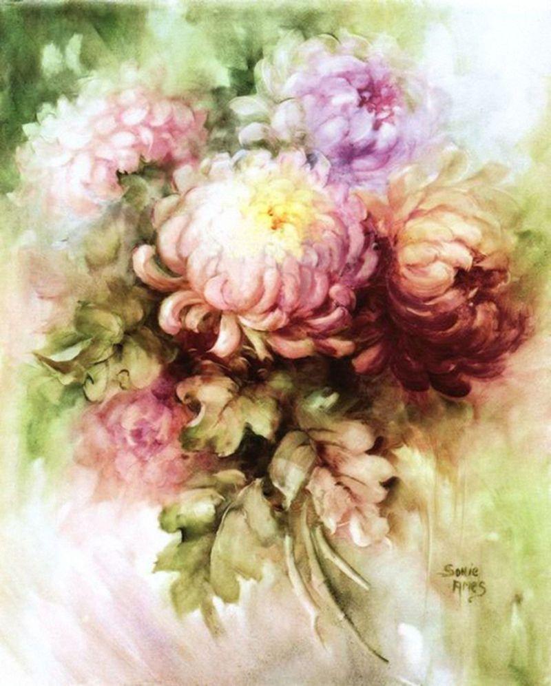 100594069 Large Sonie Ames 35 Jpg Peinture Fleurs Peintures