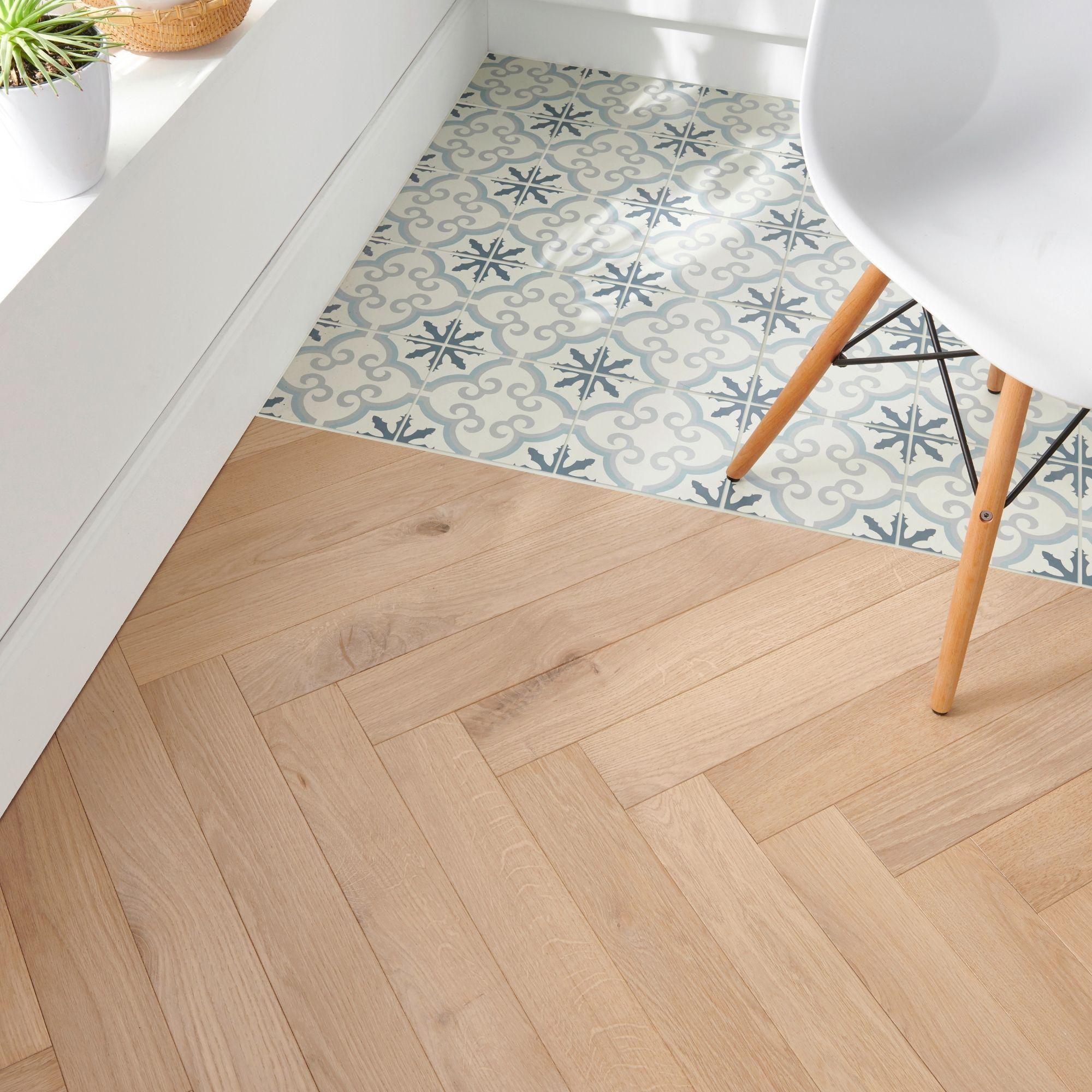 Goodhome Eslov Natural Oak Real Wood Top Layer Flooring 1 94m Pack Carreaux De Sol Parquet Contrecolle Parquet Baton Rompu Chene