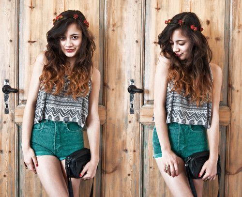 Cute outfit & lovely hair!