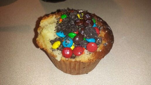 Muffin relleno de M&M jajaja