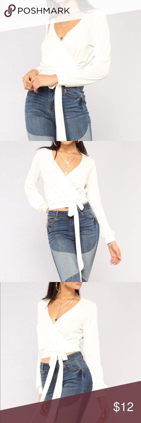 Wrap Me In Your Arms Fashion Nova Top Nwt Wrap Top Didn T Fit Me Right Selling Because I Don T Want To Pay To Return It Arm Fashion Fashion Fashion Nova Tops