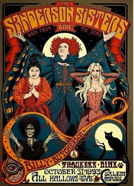 Hocus Pocus/Sanderson Sisters--Four Wolves in the Den
