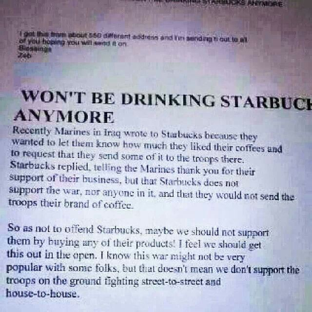 Starbucks Won At Be Anymore Drinking T