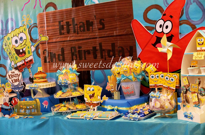 candy table spongebob party spongebob birthday party candy rh pinterest com