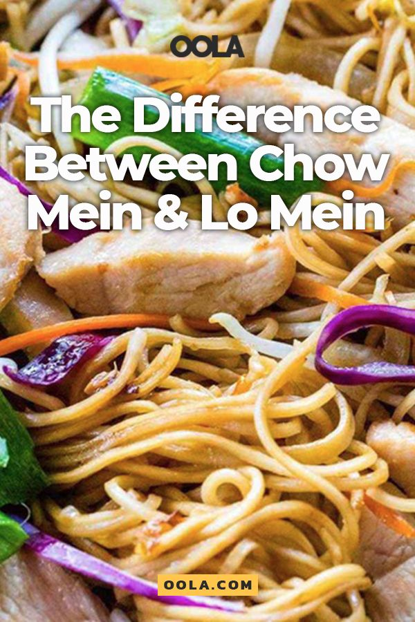 What Is The Difference Between Chow Mein Vs. Lo Mein ...