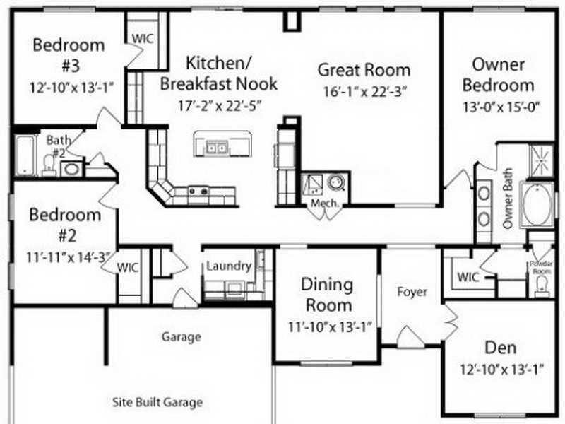 ranch house floor plans unique american floor plans ranch house ...