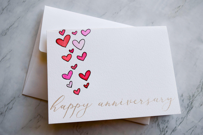 Happy Anniversary Card Happy Anniversary Anniversary Card Etsy Anniversary Cards Handmade Watercolor Anniversary Card Happy Anniversary Cards