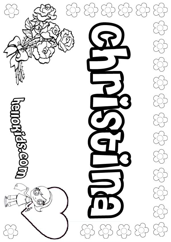 Christina coloring page Name coloring pages Coloring