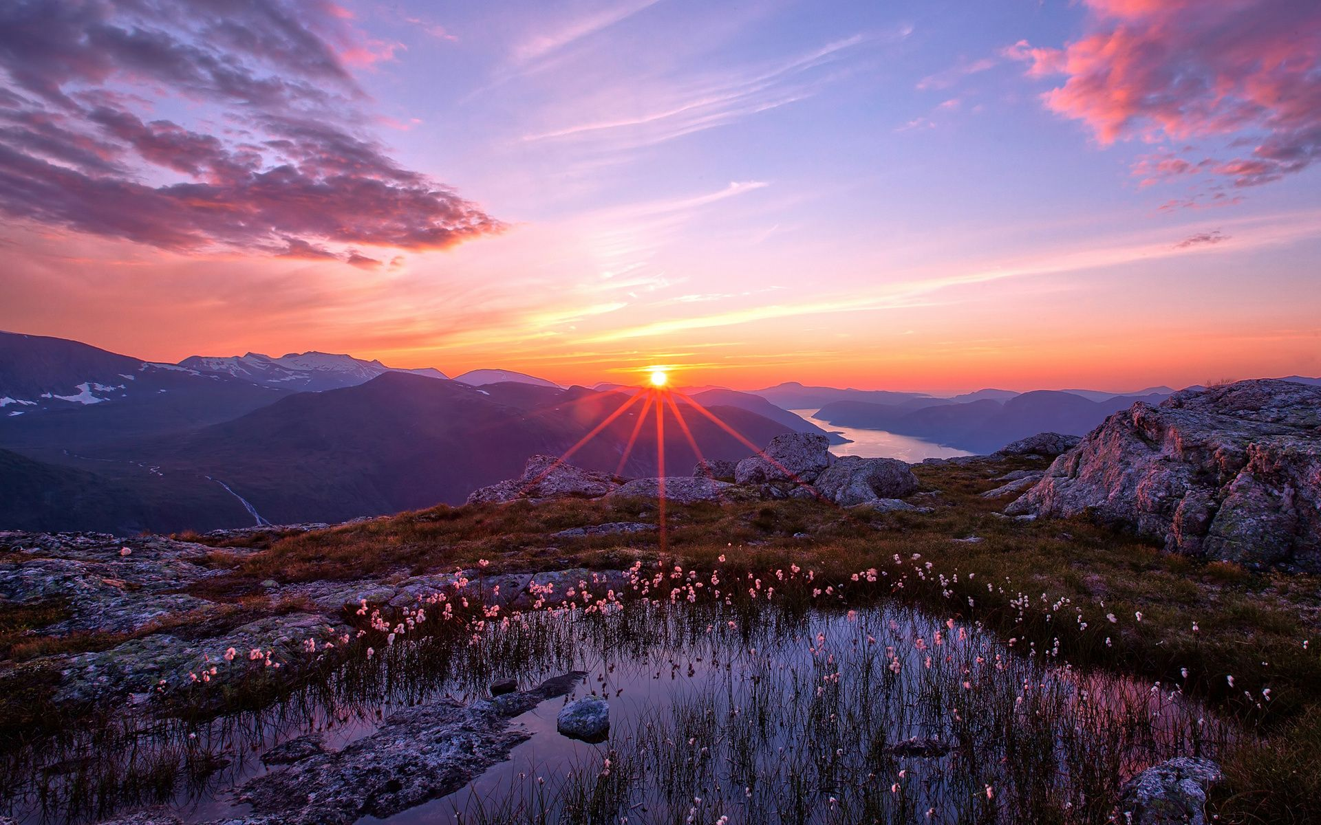 Image For Landscape Sunset Mountain Free Wallpaper