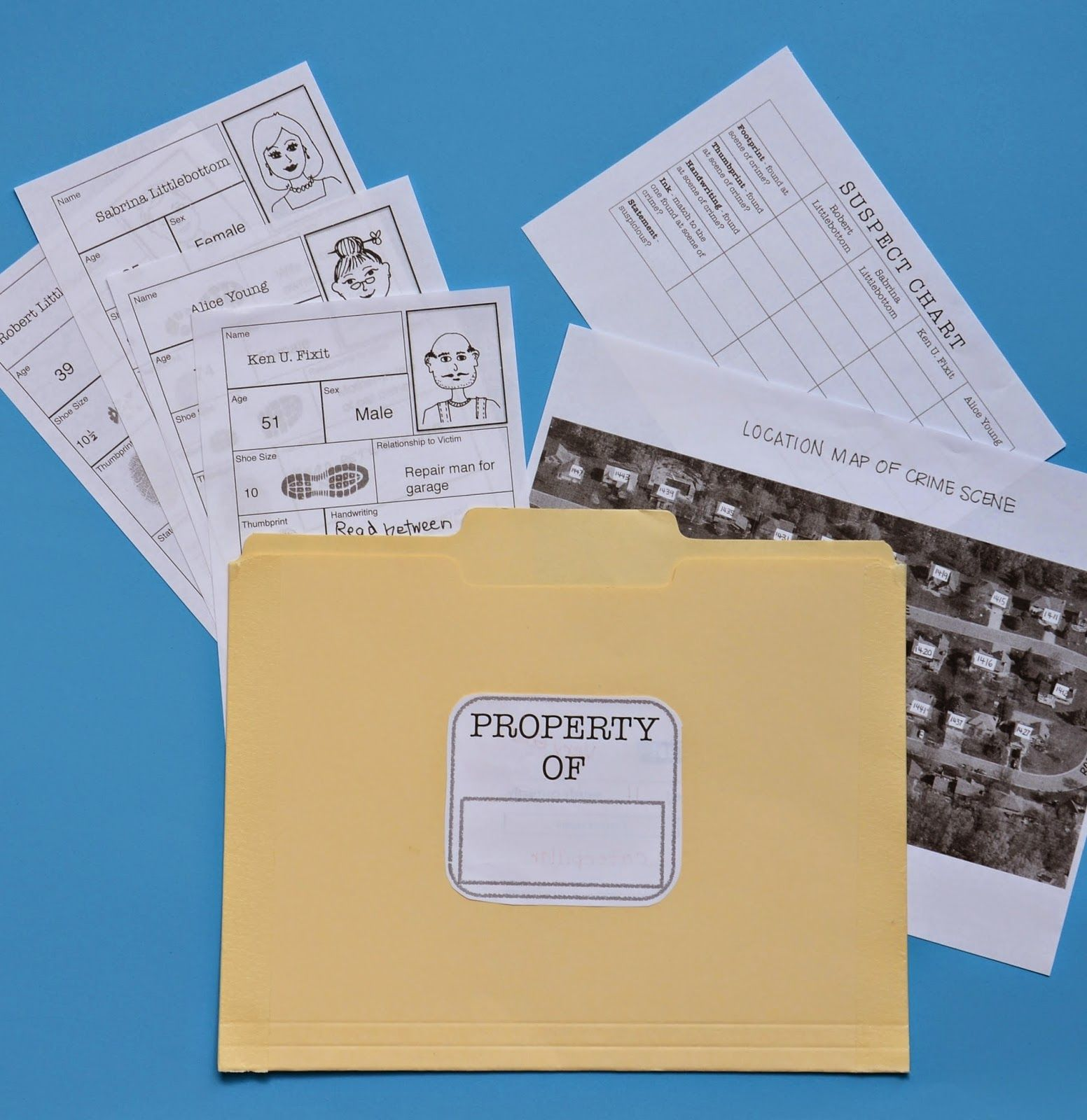 Mystery Party Activity Resources 경찰서