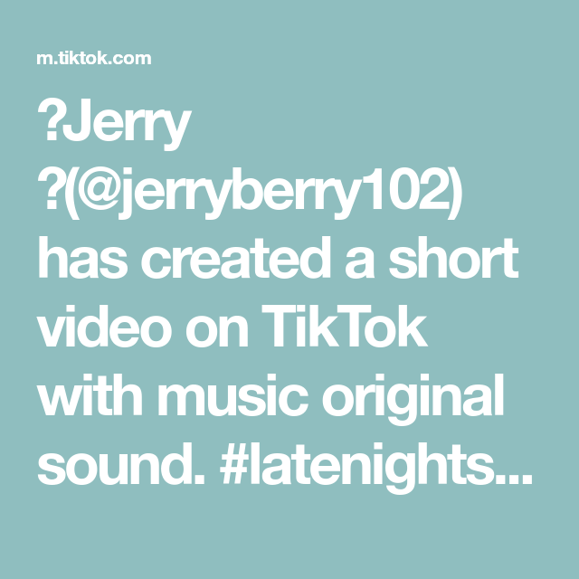 Jerry Jerryberry102 Has Created A Short Video On Tiktok With Music Original Sound Latenightspooks Comedy Trying T The Originals Greenscreen Vargas