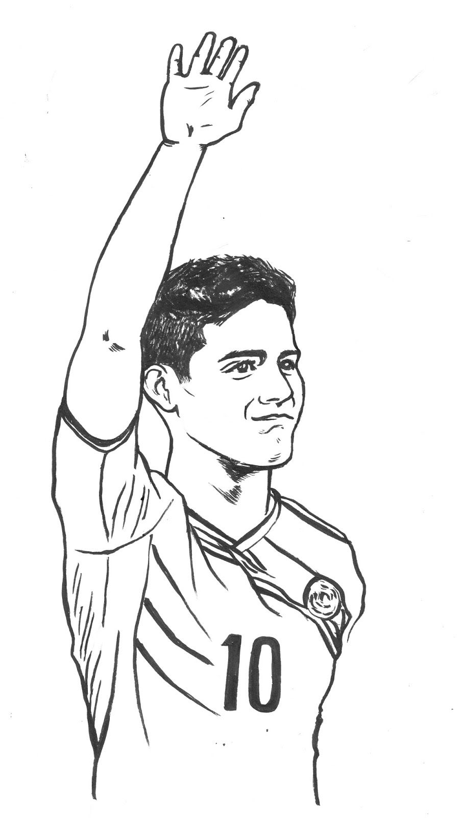 James Rodriguez Coloring Pages Futbolcular Cizim