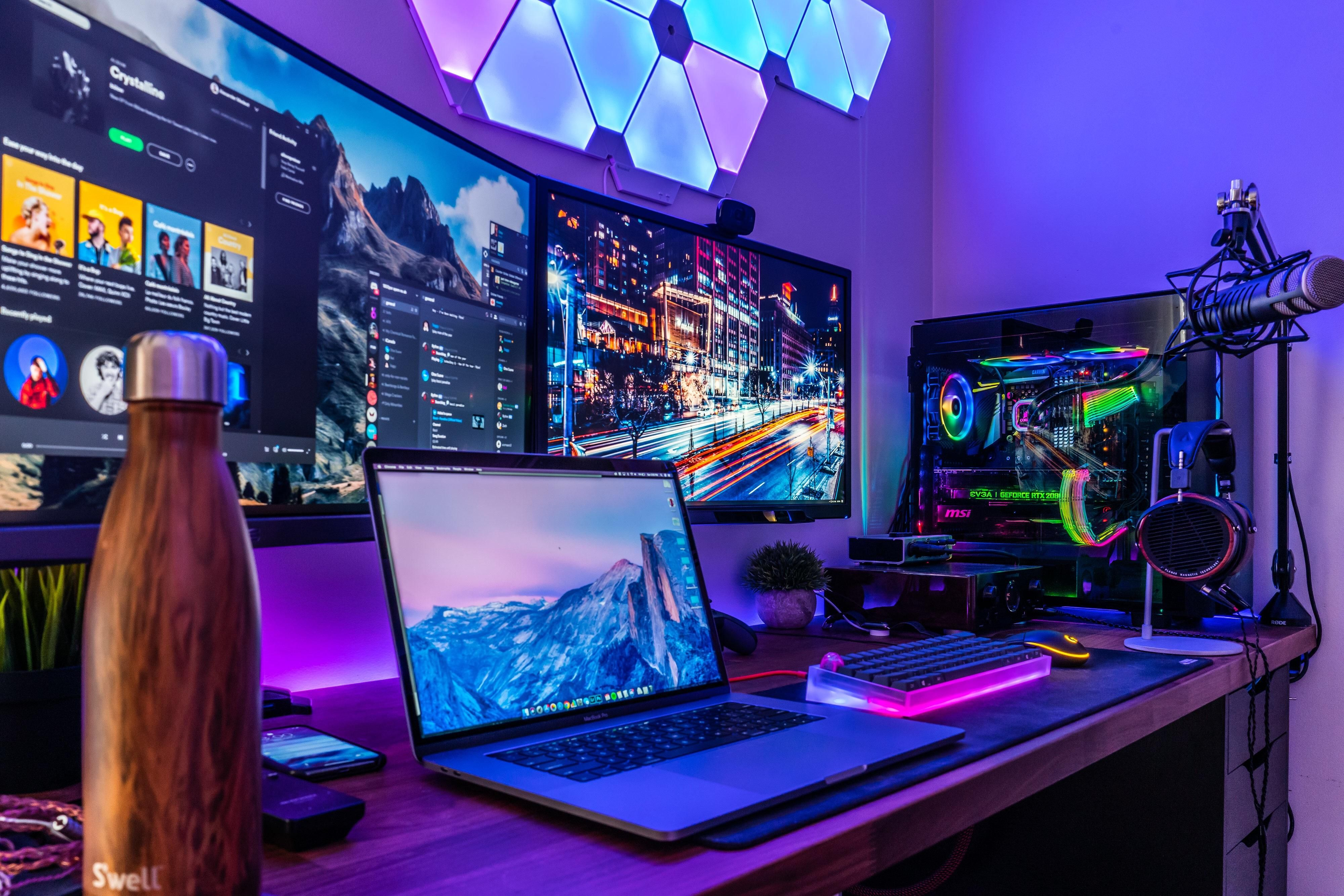 My Favourite Place To Relax Best Gaming Setup Gaming Desk Setup Gaming Setup