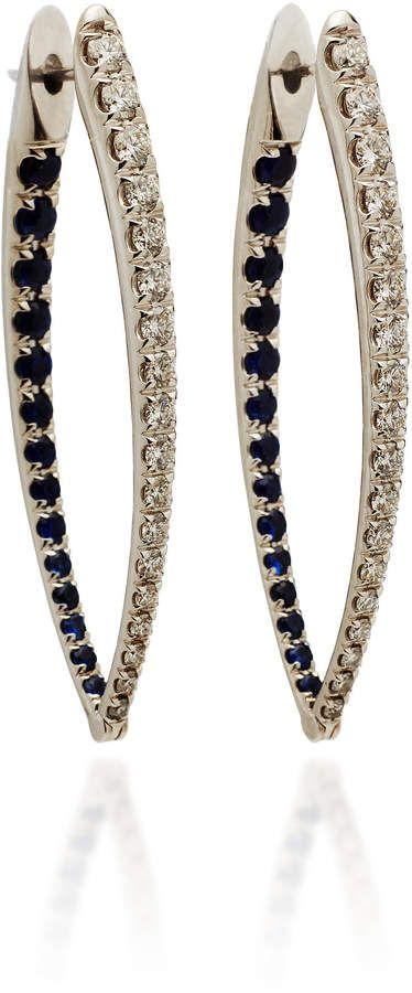 Cristina 18-karat White Gold, Diamond And Sapphire Earrings - one size Melissa Kaye
