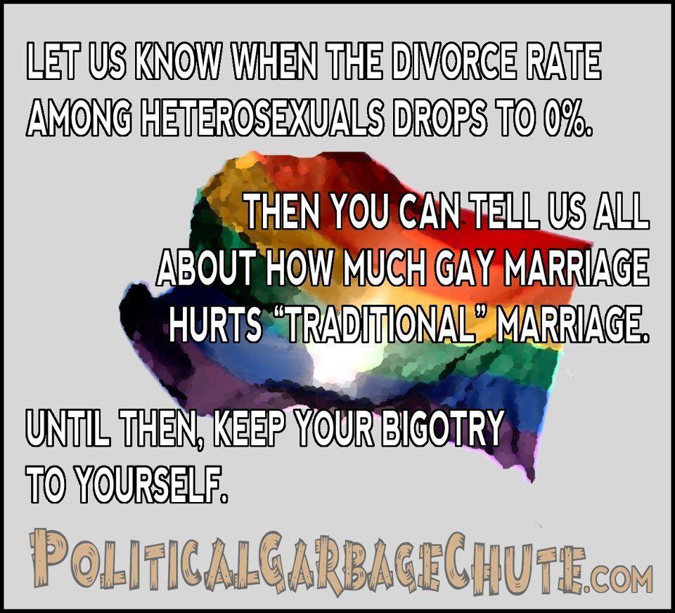 Heterosexual marriage divorce rate