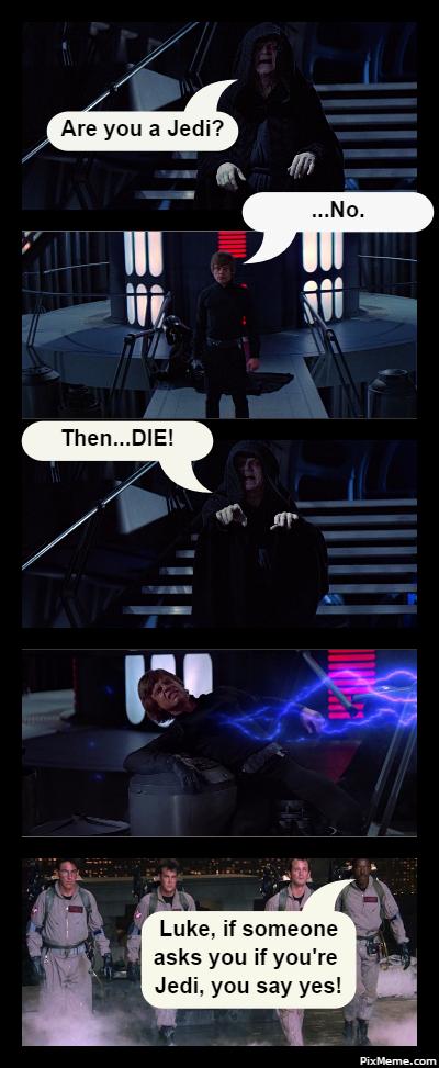 Luke Skywalker Ghostbusters Story Meme By Missagent E On Pinterest Memes Starwars Episodevi Returnof Star Wars Humor The Real Ghostbusters Star Wars Memes