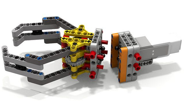 Lego Gripper Assembly (pivoted) | Lego and Lego mindstorms
