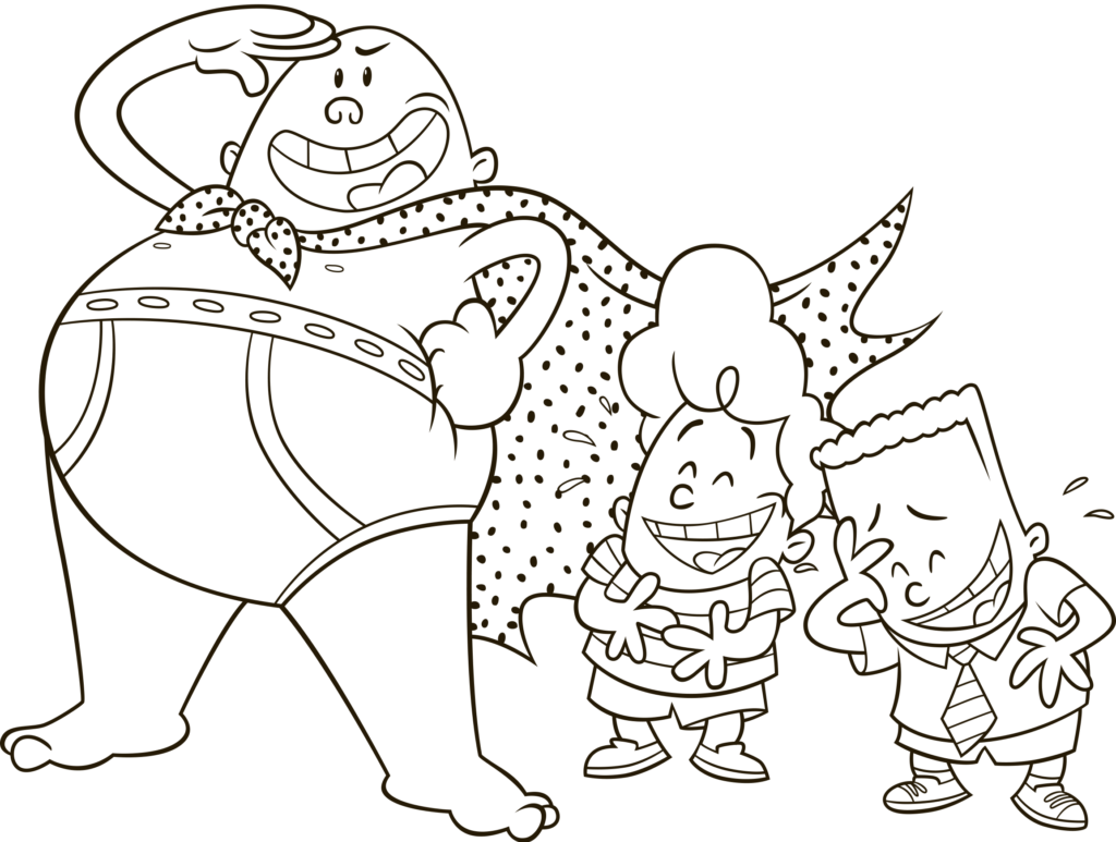Tra La Laaa Captain Underpants Will Be Available On Blu Ray Dvd On September 12 2017 Captain Underpants Monster Coloring Pages Cartoon Coloring Pages