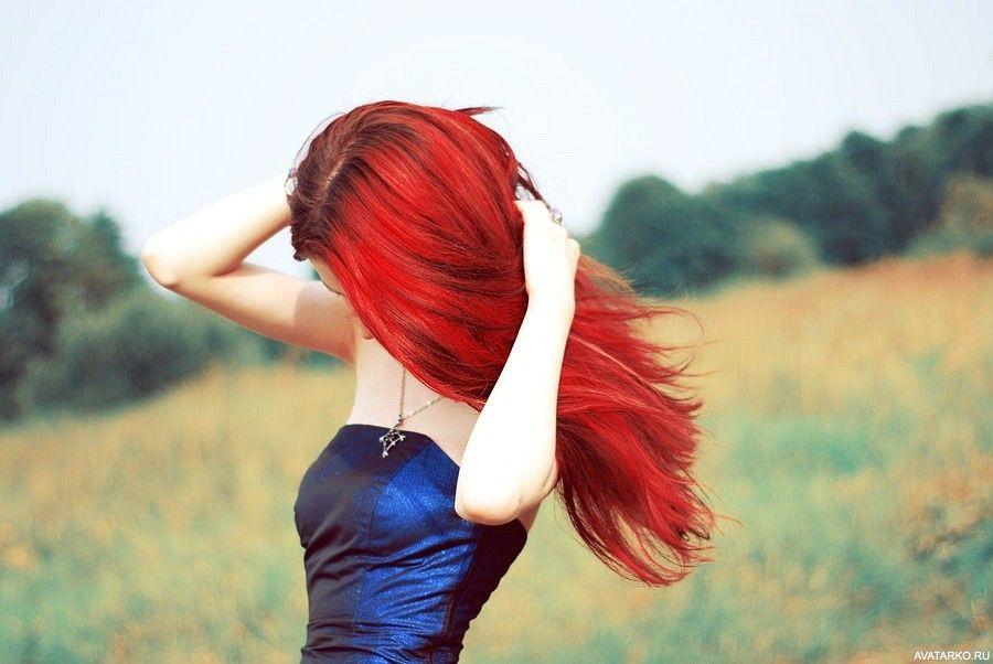 фото с красными волосами без лица всякие