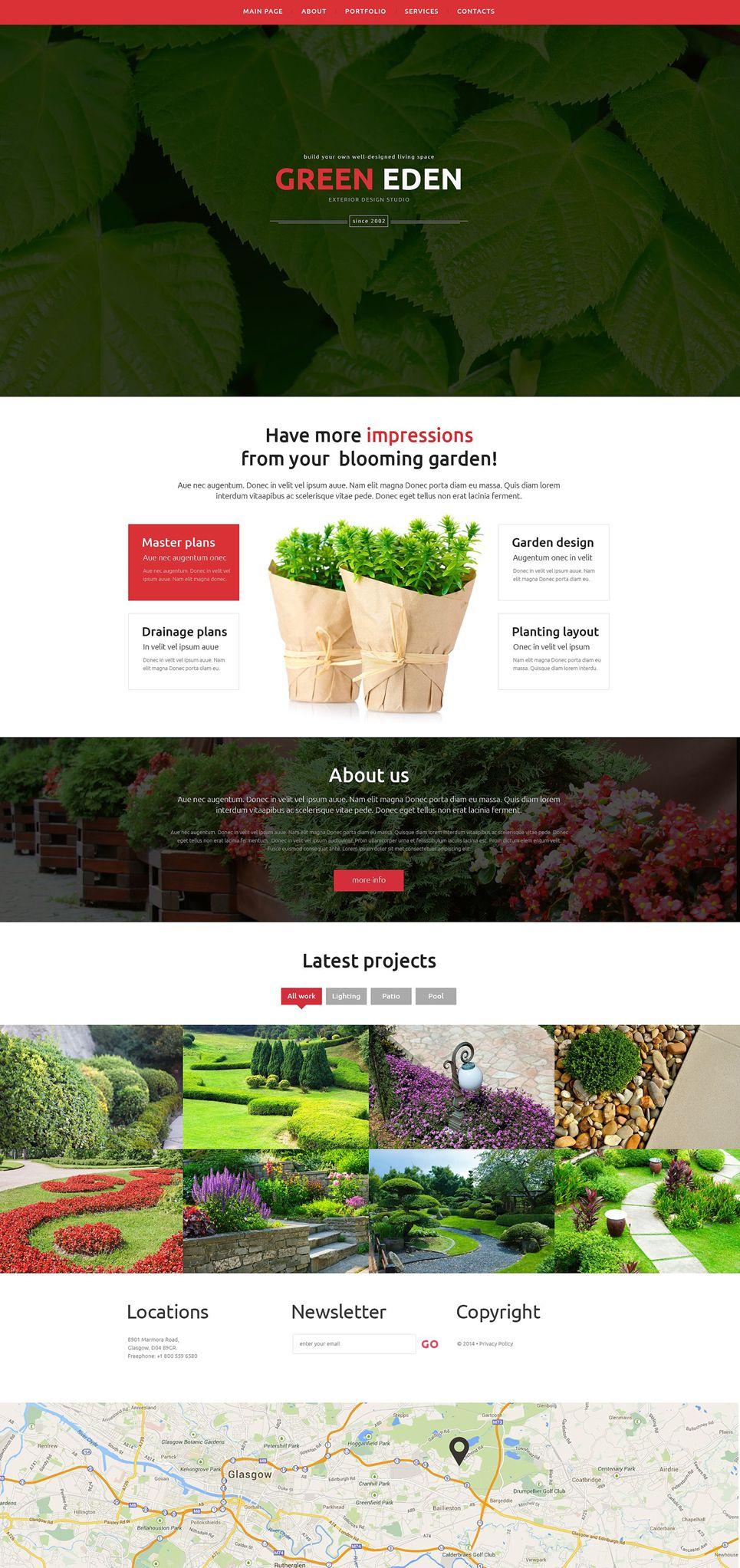 Garden Design Responsive Website Template Design Garden Responsive Garden Design Website Template Custom Website Design