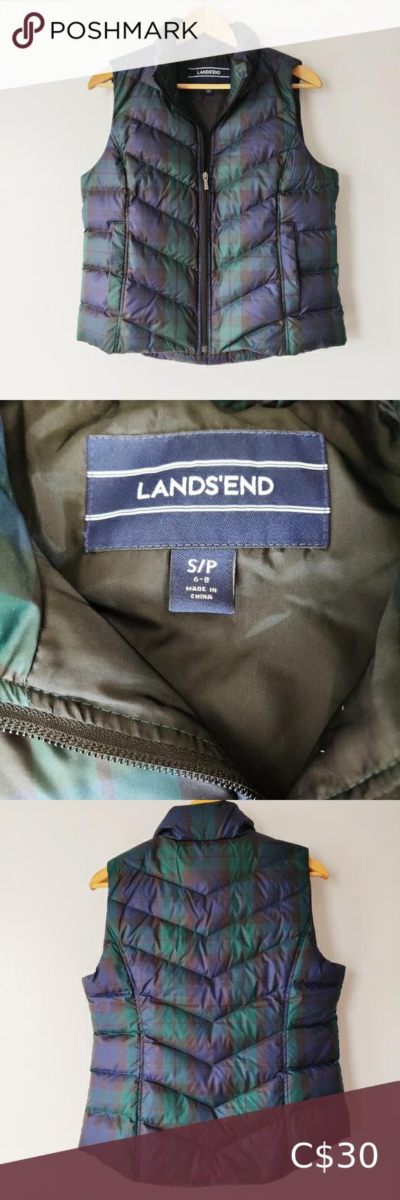 Lands end women's petite puffer vest