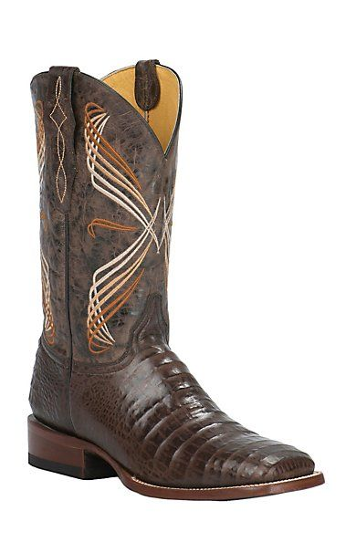 afca33ec2d5 by Old Gringo Men's Chocolate Caiman Belly Print Square Toe Western ...