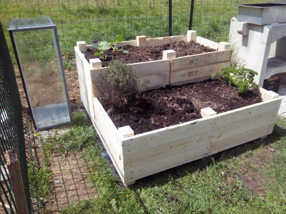 Jardiniere objet et meuble en palette meubles palettes for Meuble patio palette