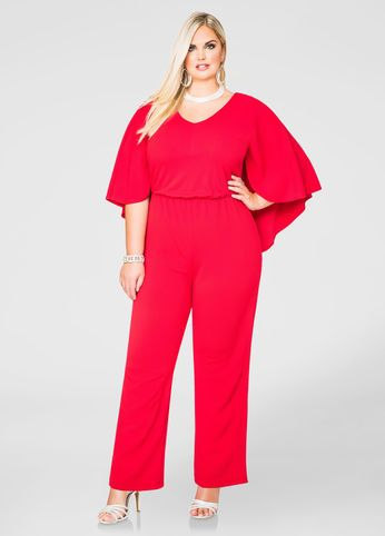 5da99351f7c0 Wide Leg Cape Jumpsuit Wide Leg Cape Jumpsuit