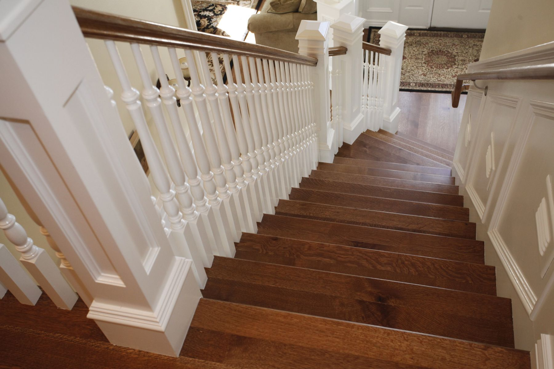 Hardwood On Stairs See Wood Railing At Http://awoodrailing.com
