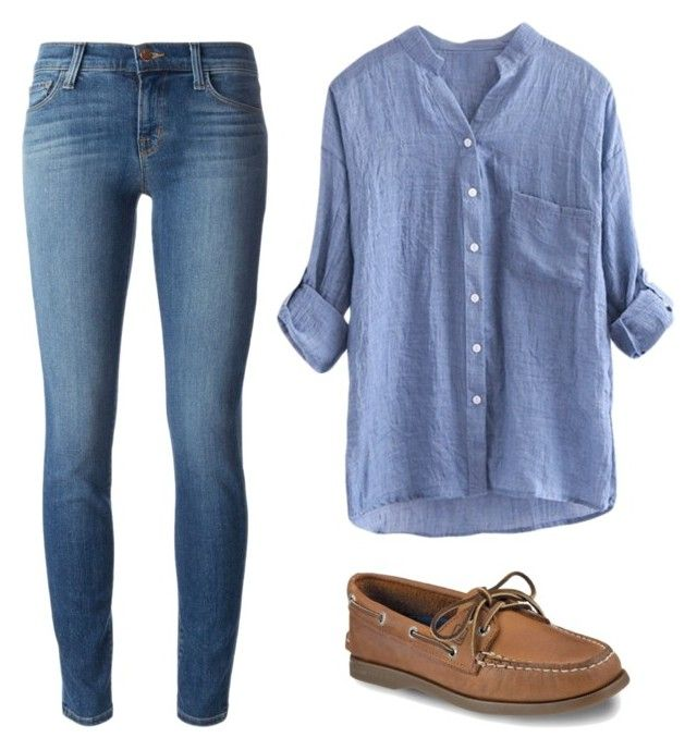 """""""Untitled #703"""" by oc1289 ❤ liked on Polyvore featuring Sperry and J Brand"""