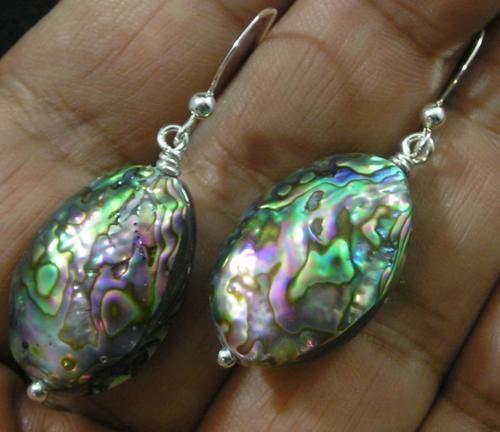 1 3//4 Paua Abalone Shell 925 Sterling Silver Pendant